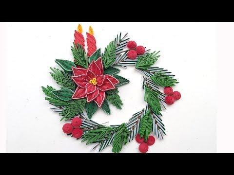 Quilling Poinsettia Flower V6 Tutorial | DIY Paper Poinsettia Flower Home Decor