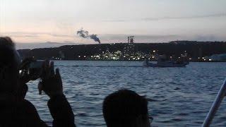 夜景クルーズの良さ地元から 室蘭で体験乗船会 (2016/07/07)北海道新聞