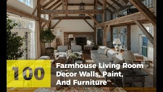 100 Rustic Farmhouse Living Room Decor, Walls, Paint, And Furniture You'll Love