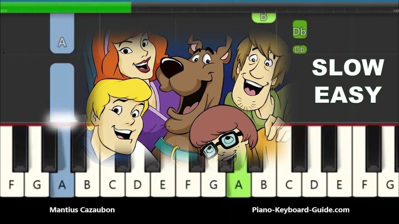 Scooby Doo Theme Song Piano Tutorial Notes