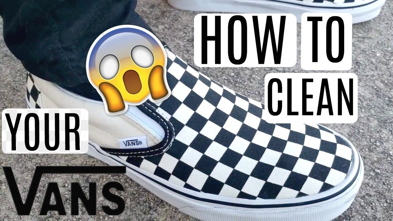 how to wash vans chaussures