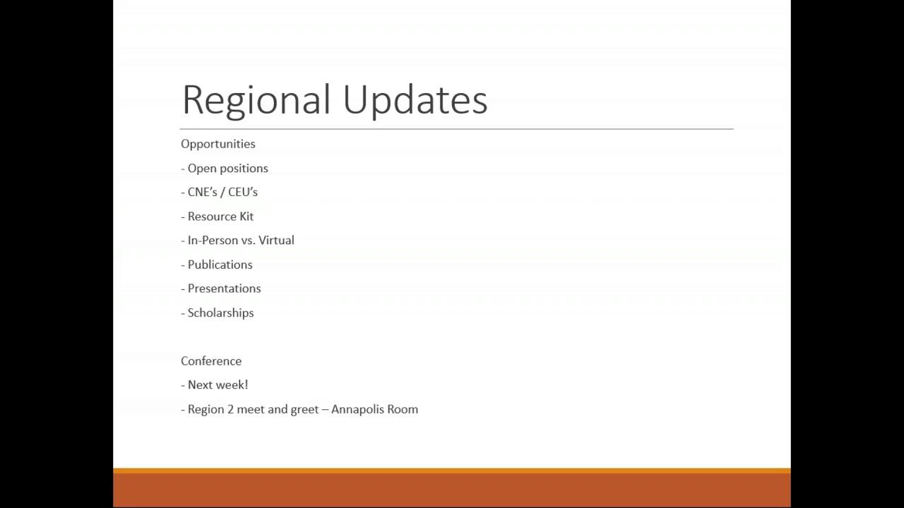 Region 2 Quarterly Call & Educational Session (JSA) - 8 30 19