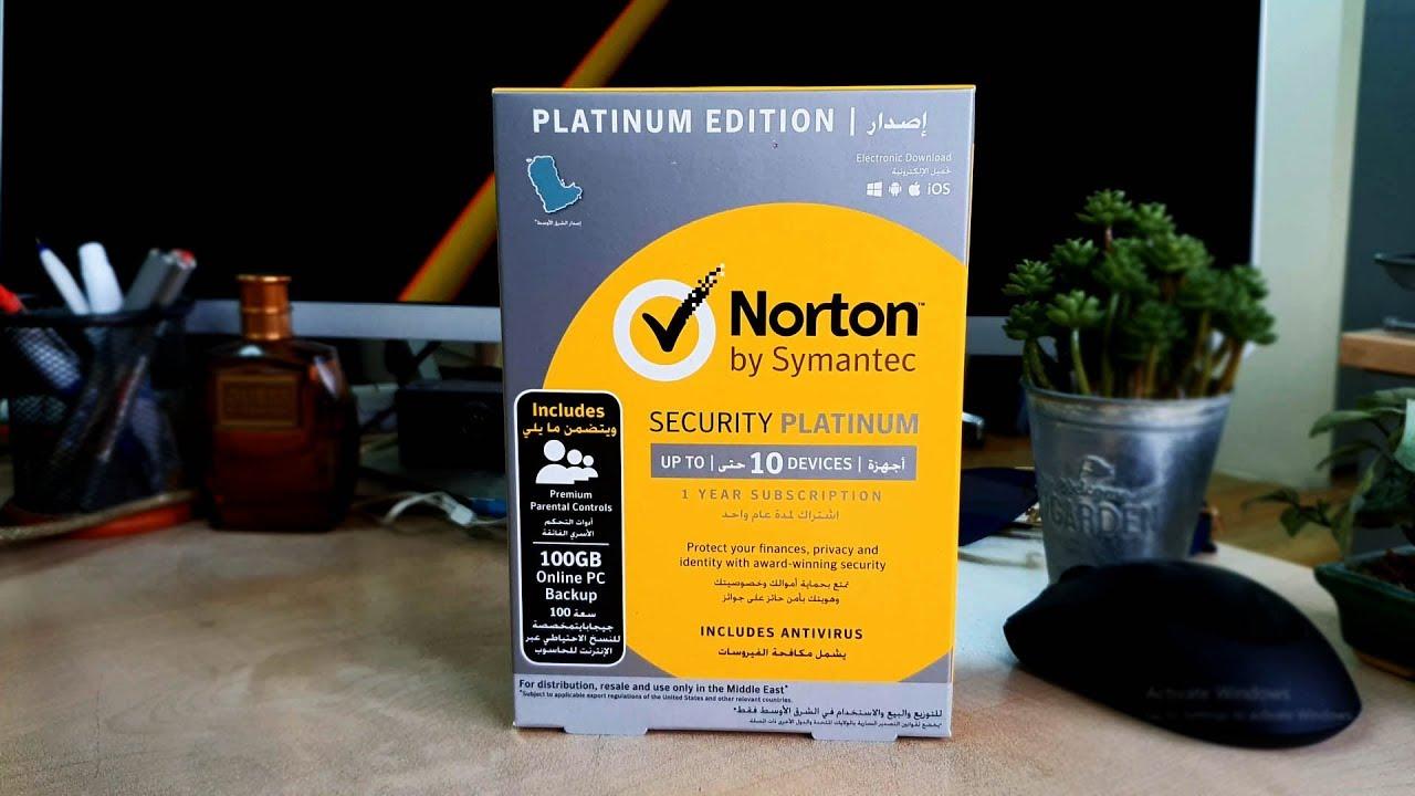 Norton Security Platinum Antivirus Unboxing And Setup