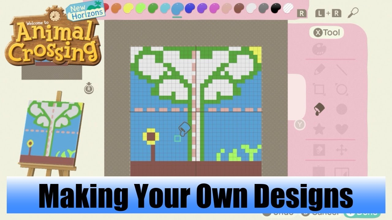 Animal Crossing New Horizons Using The Design App To Make Your