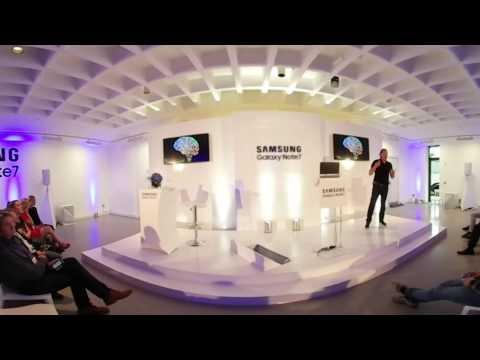 Rudy de Waele - Future of Technology talk - Samsung Note 7 launch - RHA gallery, Dublin
