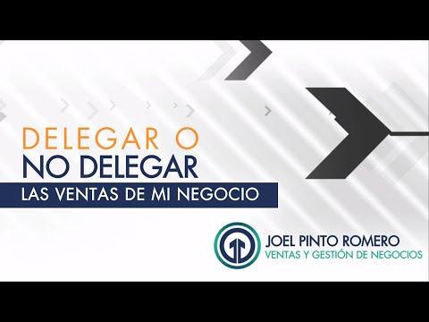 Delegar o No Delegar La Gestión Comercial  | Joel Pinto Romero |  Youtube