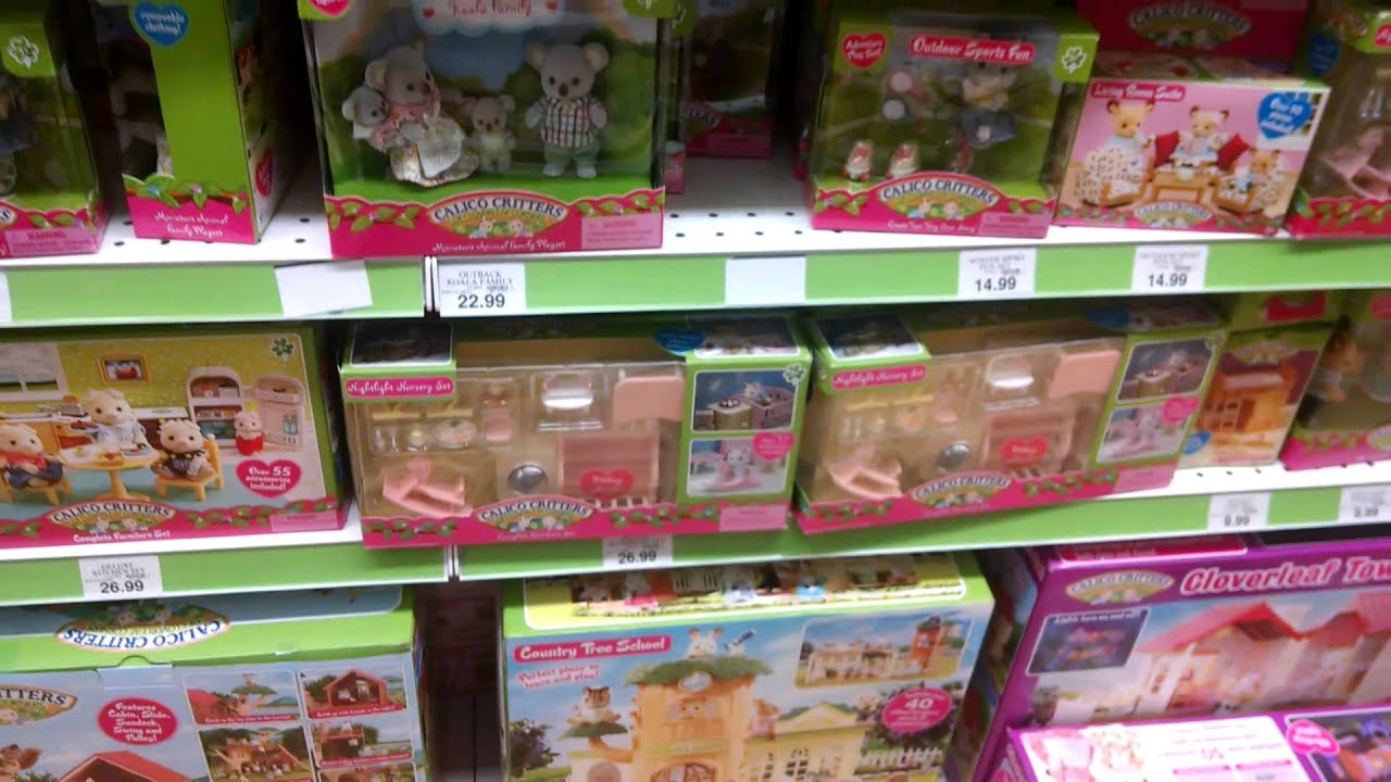 Mini Toy Hunt At Toys R Us Calico Critters Shopkins