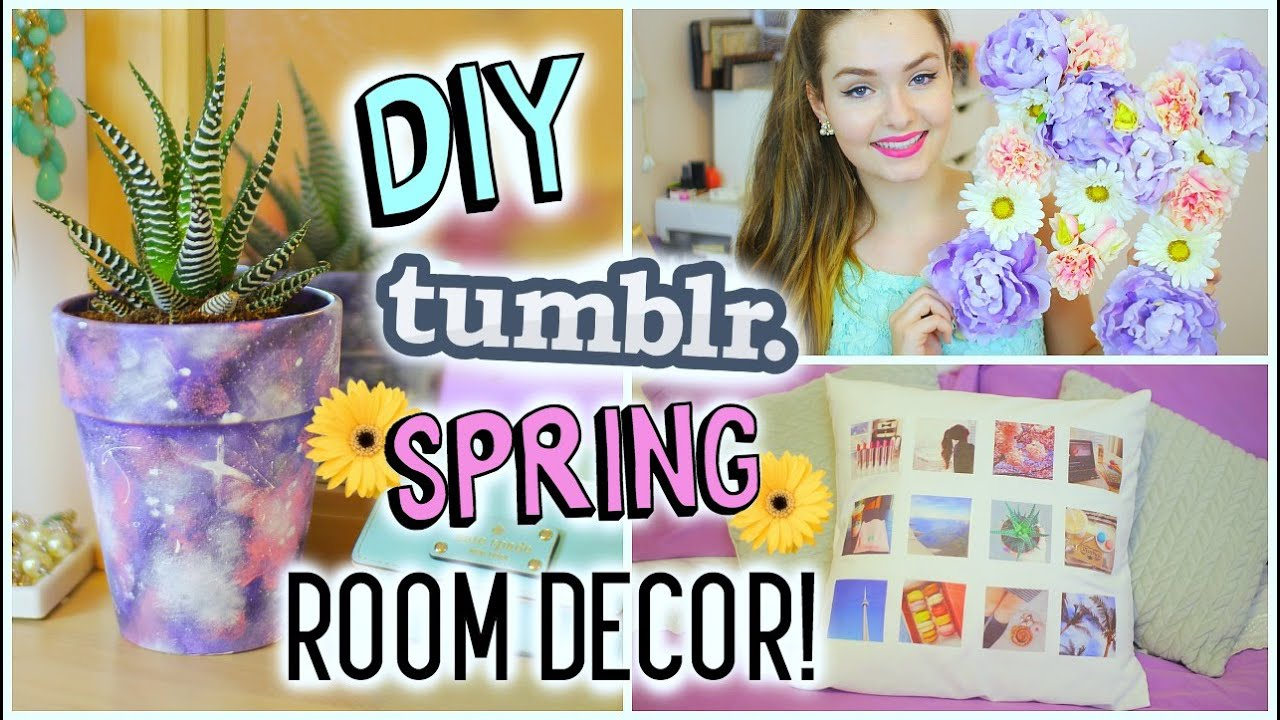 Diy Tumblr Spring Room Decor Cheap Easy Youtube