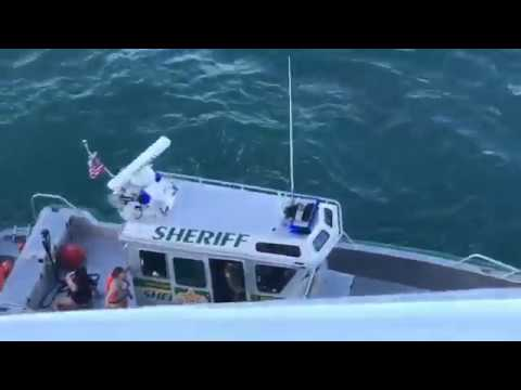 Today's viral video via Anthony Miglioranzi: Rescued Jet Skiers From Cruise Ship Collision