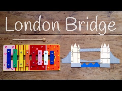 Aprende canciones con xilófono: Cómo tocar London bridge is falling down