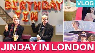 BTS - Jin's Birthday café in London? | Vlog