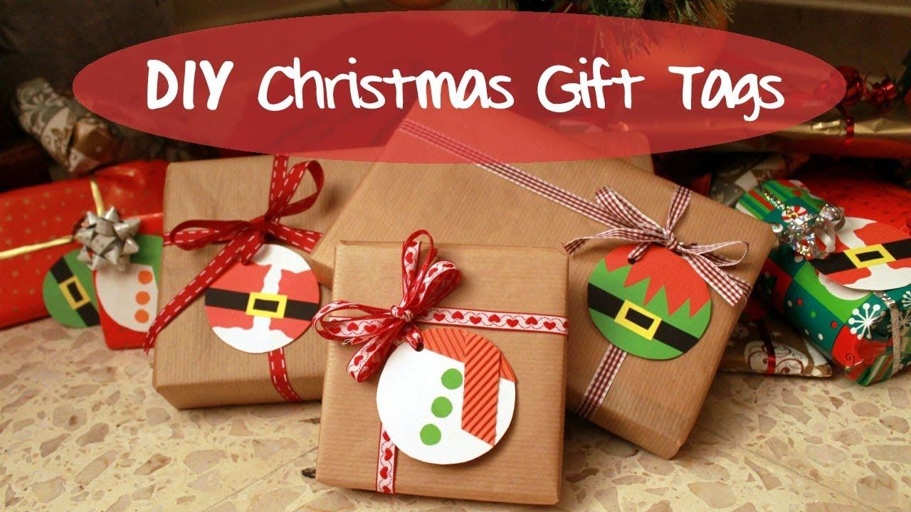 DIY Christmas Gift Tags | CHRISTMAS 2017 - YouTube