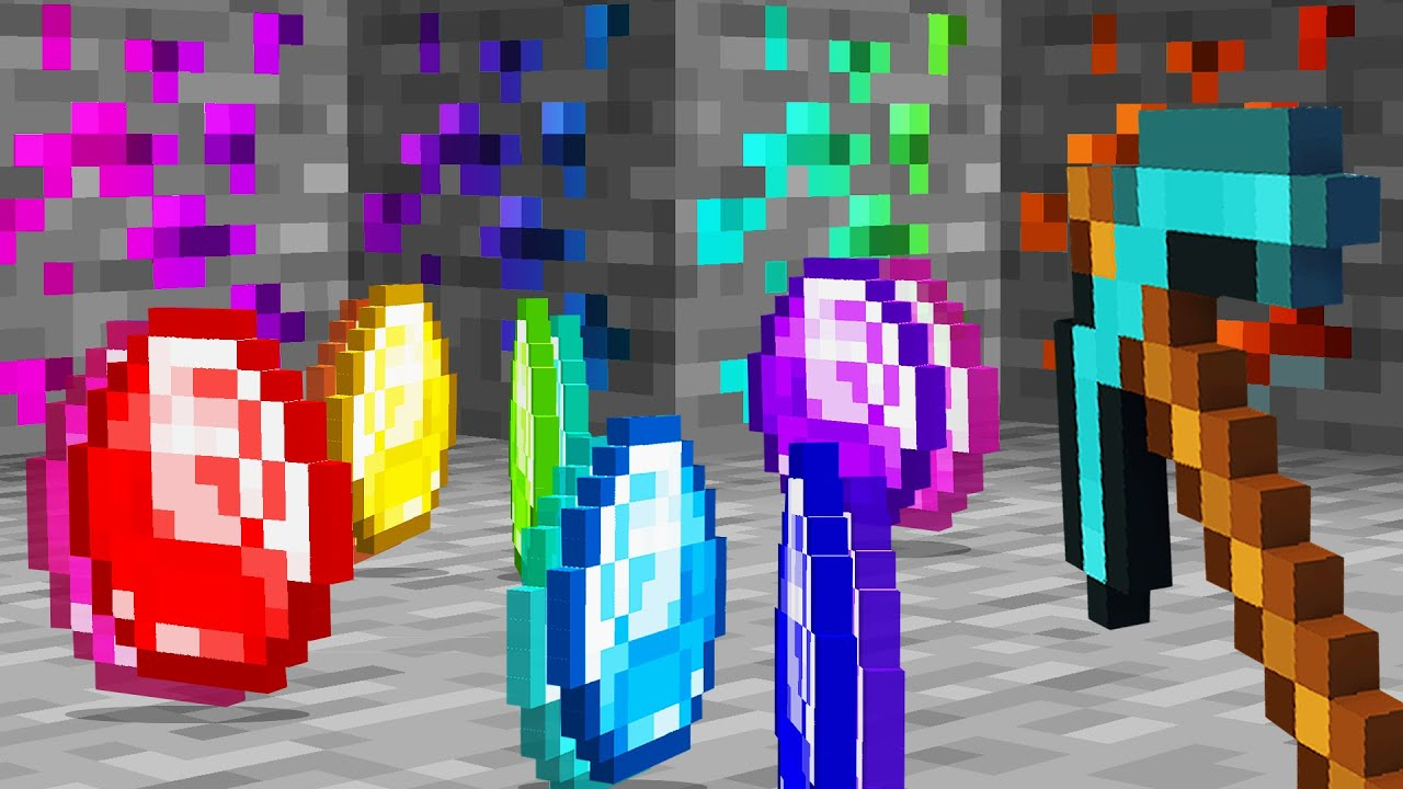 Download Minecraft but there's Custom Diamonds