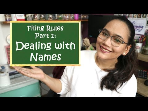 Alphabetizing Names - Filing Rules Part 1 - Clerical Operations - Civil Service Review