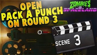 How to Open Pack-A-Punch On Round 3 Tutorial! - Zombies in Spaceland Strategy  (IW Zombies)