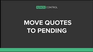 Move Quotations To The Pending Stage In Sales Invoice Manager Youtube 'there is no ongoing spiritual life without this process of letting go. youtube