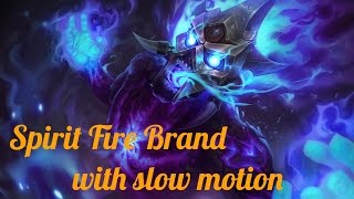 Spirit Fire Brand Skin Spotlight with slow motion - League of Legends [60 FPS]