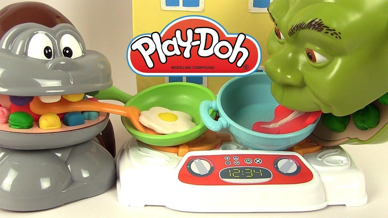 p 226 te 224 modeler play doh dentiste shrek mange des steaks œufs poisson avec le singe