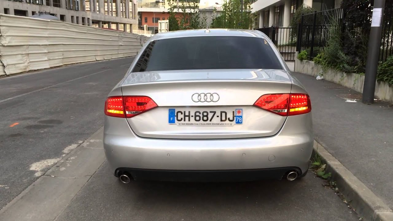audi a4 b8 led tail lights blinking youtube. Black Bedroom Furniture Sets. Home Design Ideas