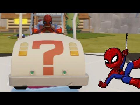 Spider Man plays golf