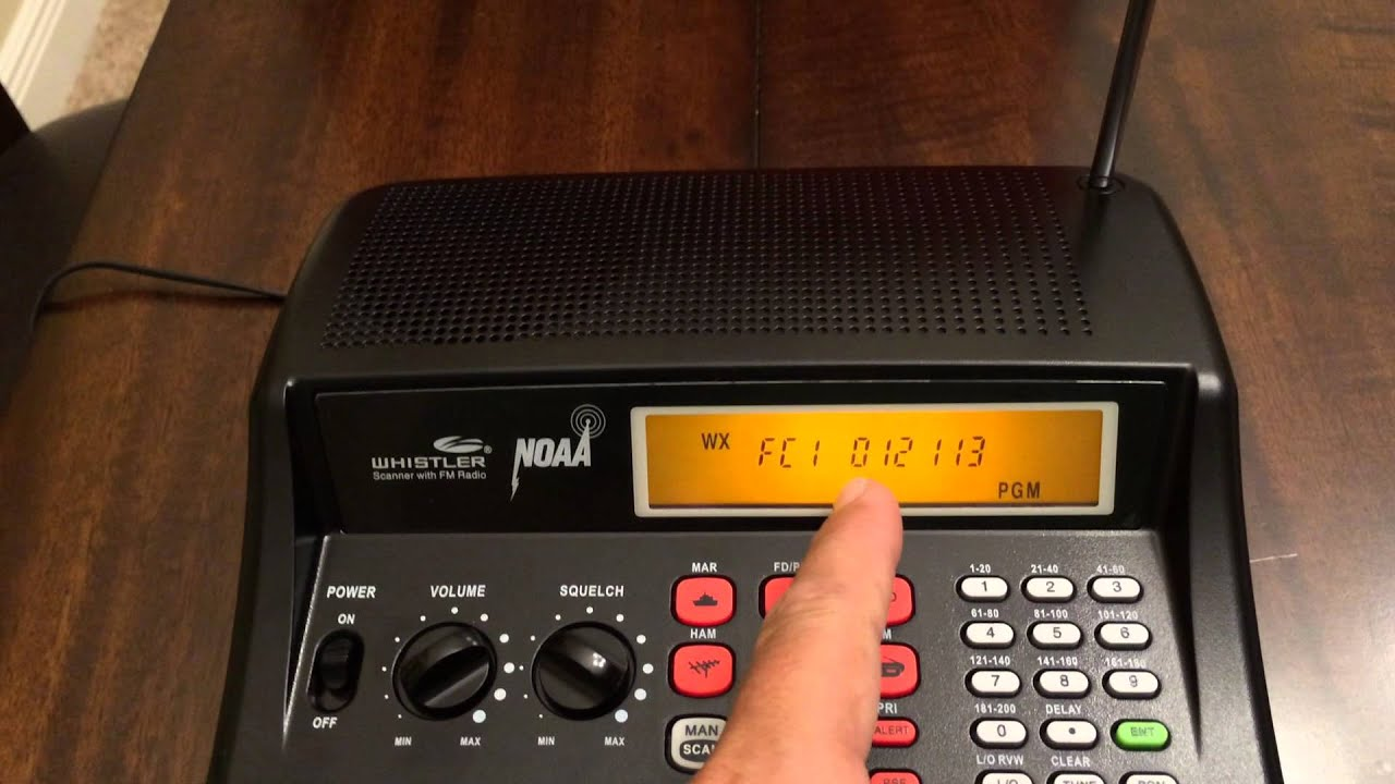 Whistler WS1025 Priority and Weather Alert Programming