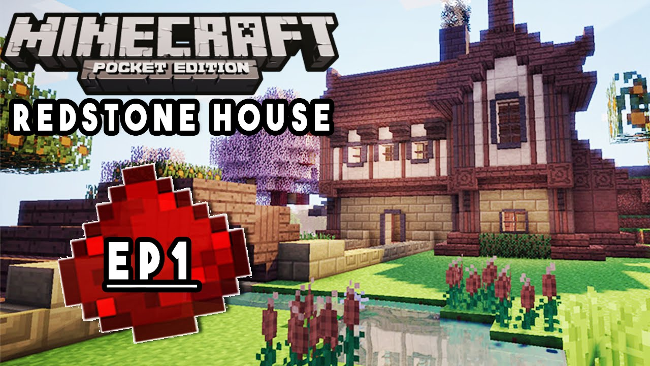 Lets build mcpe redstone house ep1 redstone lighting house design redstone tutorial creations
