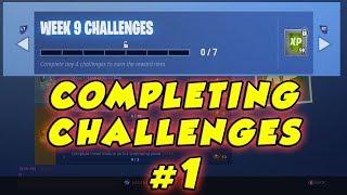 Working On Fortnite Week 9 Challenges #1