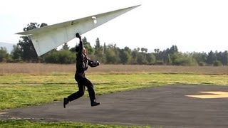 World Record  RC Paper Airplane Flies Man