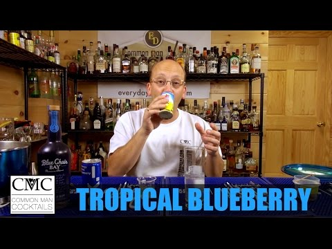 Tropical Blueberry Cocktail