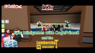 SFG - Roblox - Epic Minigames with CodePrime8 and the Lumberchat Discord!