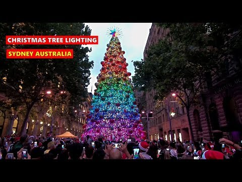 Martin Place CHRISTMAS TREE LIGHTING + Pitt Street Mall Christmas Lights - SYDNEY CHRISTMAS 2019‎