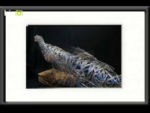 Kizoa Video Editor - Movie Maker: Gill Holland Wire Art - Wire Sculptures