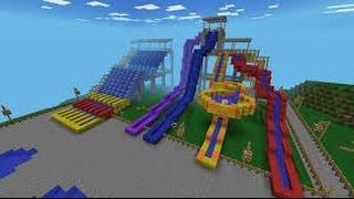 Minecraft Pocket Edition Water Park Map! Minecraft Pe! (Pocket Edition)