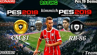 PES 2019 Official Latest Player Ratings by Konami    PART 6