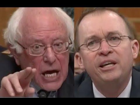"""""""PEOPLE WILL DIE!!!"""" Bernie Sanders DESTROYS Trump Lackey Mick Mulvaney on Trump's Budget"""