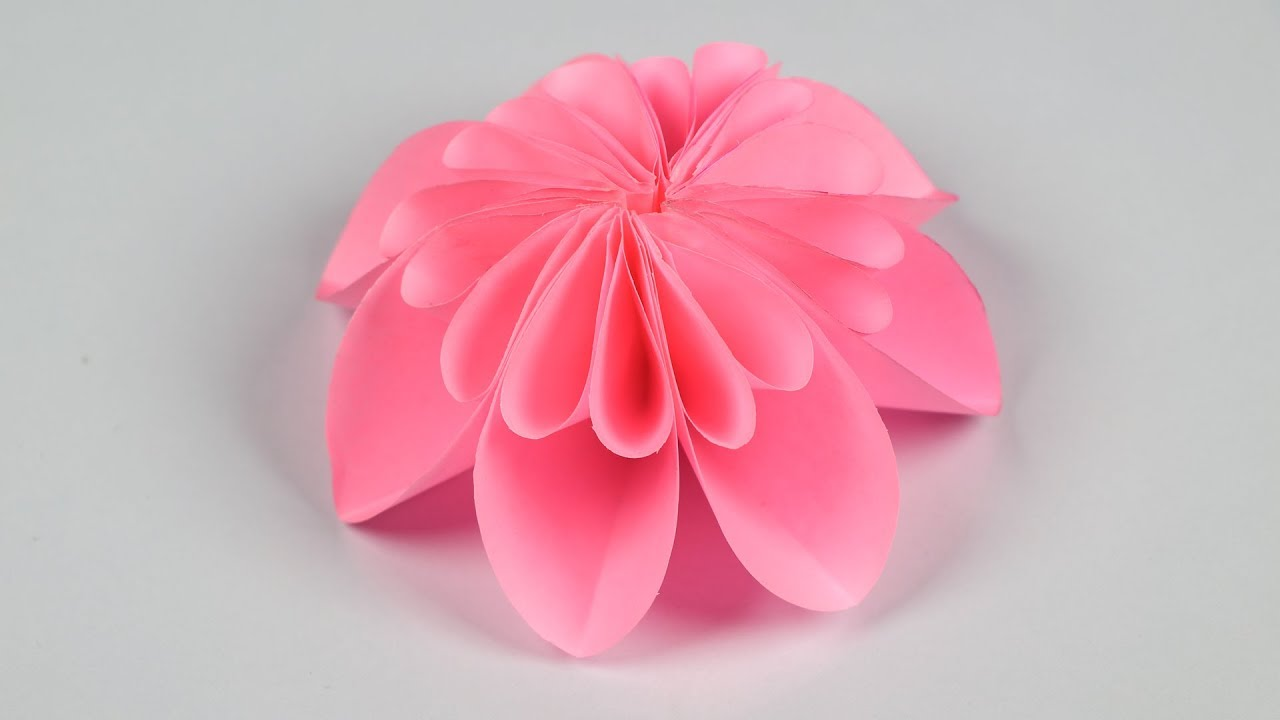 Paper Flower Making How To Make A Flower Out Of Paper Step By Step
