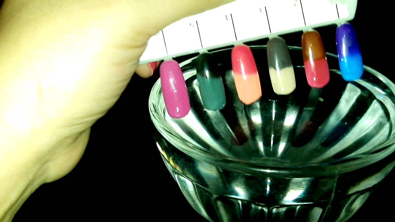 Esmaltes que cambian de color con la temperatura - YouTube