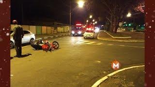 Acidente grave de moto deixa duas vítimas feridas