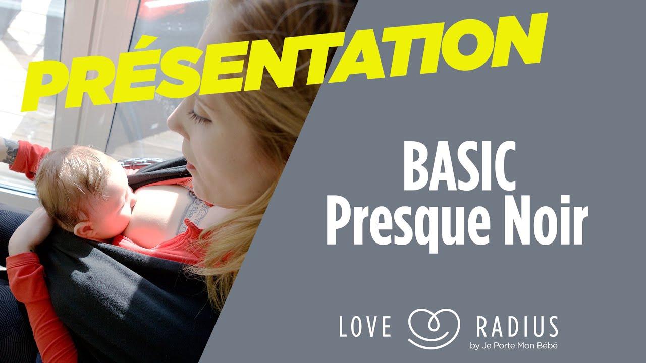 f885d59b416 Echarpe de portage BASIC Love Radius Presque Noir - Allaitement ...