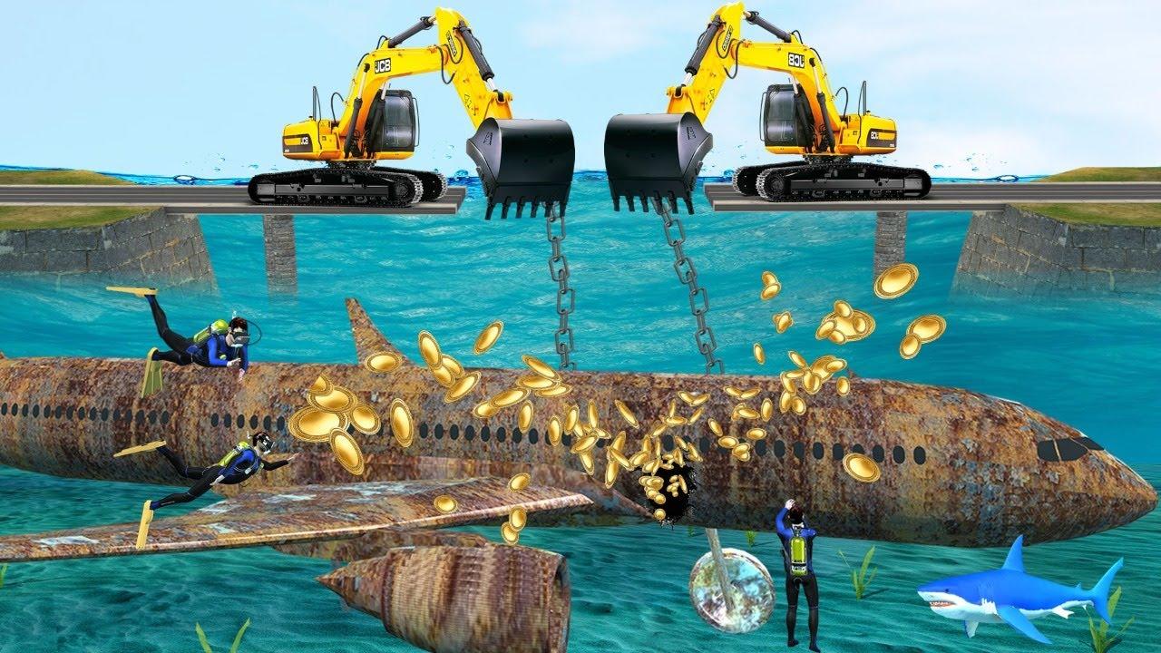 पानी के नीचे विमान बहाली Underwater Plane Restoration  Comedy Video हिंदी कहानिय Hindi Kahaniya