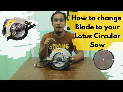 Lotus Circular Saw How to change Saw Blade