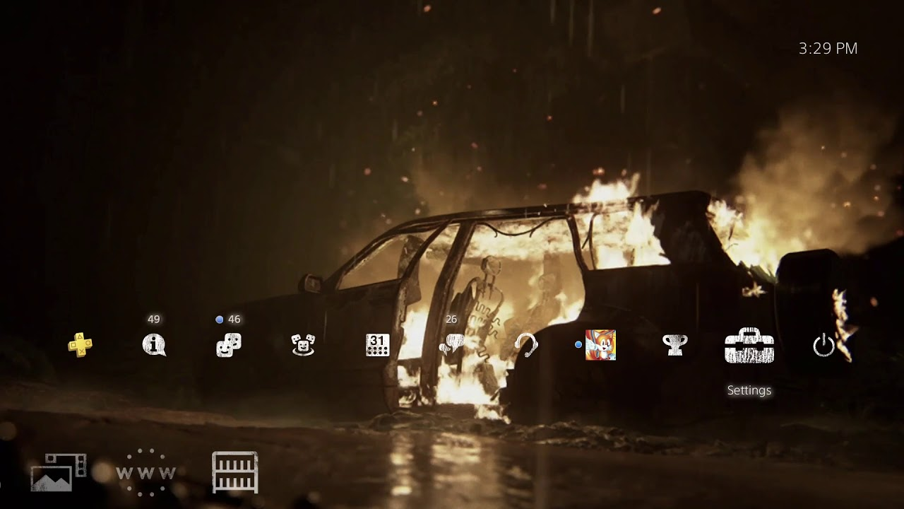 The Last of Us Part 2 Burning Car Dynamic PS4 Theme