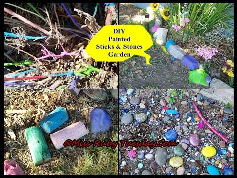 Miss Ruby Tuesday- DIY Painted Sticks & Stones Garden