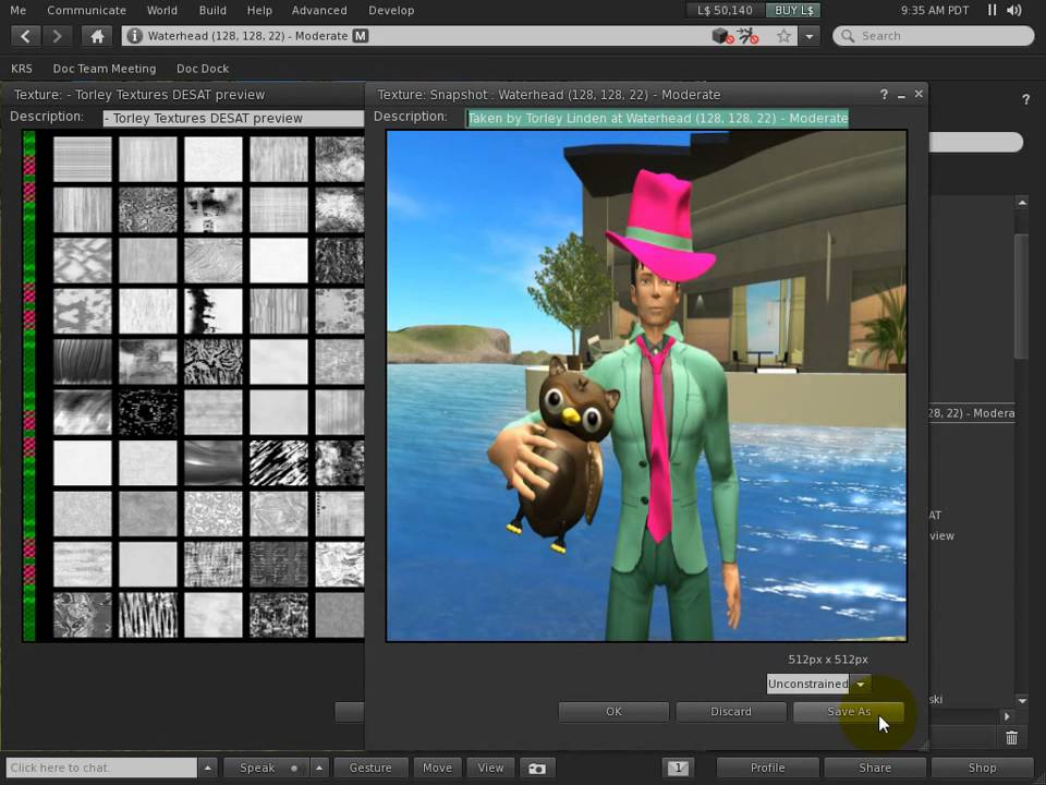 Saving textures to your hard drive - Second Life Viewer 2.1 Tutorial - Saving textures to your hard drive - Second Life Viewer 2.1 Tutorial