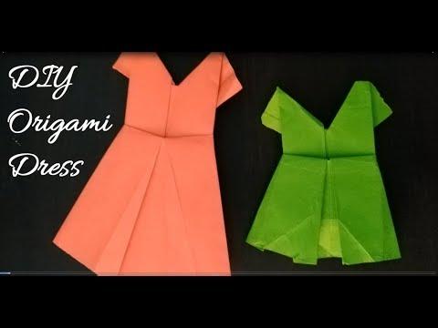 DIY Origami Dress   Art and Craft Ideas    Origami Art