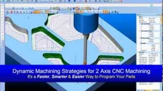 CAD-CAM Software Dynamic Machining Strategies™ for 2 Axis CNC Machining