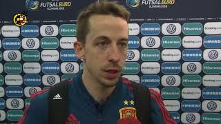 Declaraciones tras el Portugal-España. Final de la Eurocopa de fútbol sala