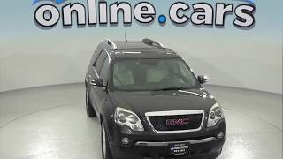 C97378RO Used 2007 GMC Acadia SUV Black Test Drive, Review, For Sale