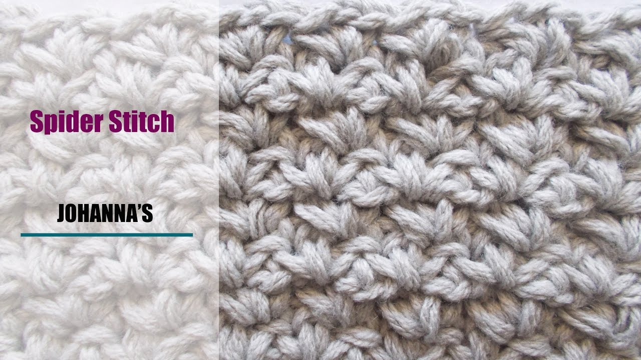 Crochet: Spider Stitch - YouTube