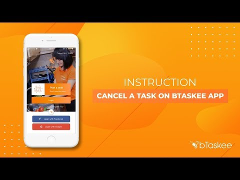 How to cancel a task on bTaskee app - bTaskee on demand home cleaning service